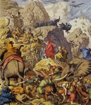 Hannibal-Crossing-Alps-Wikimedia300px